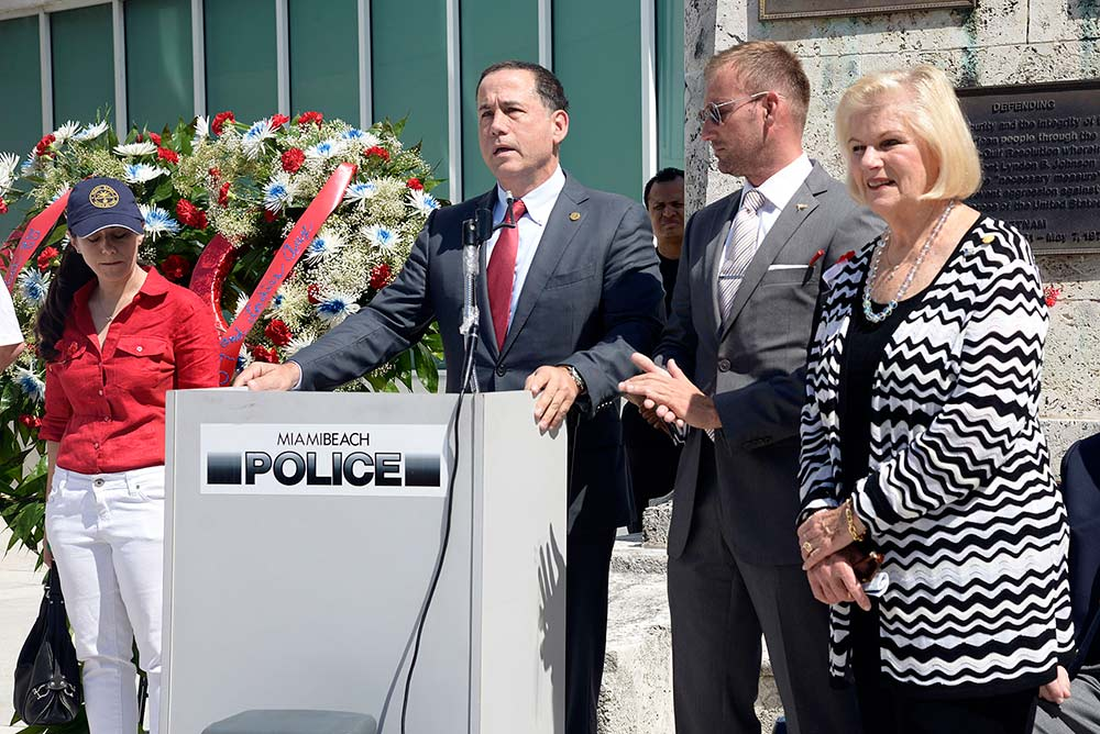 Mayor Philip Levine observes Memorial Day in Miami Beach with men and women of our nation's military and law enforcement.