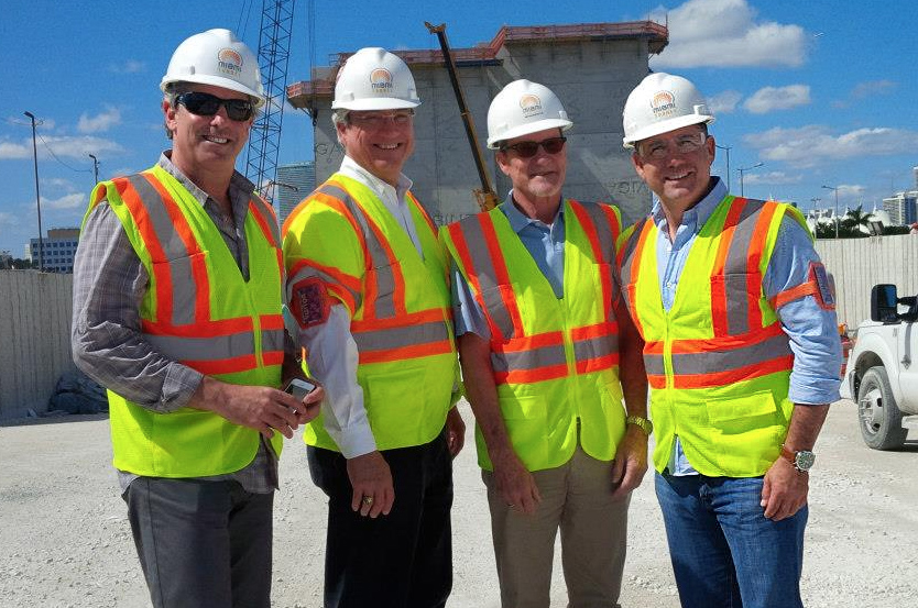 Mayor Philip Levine tours the Port of Miami Tunnel