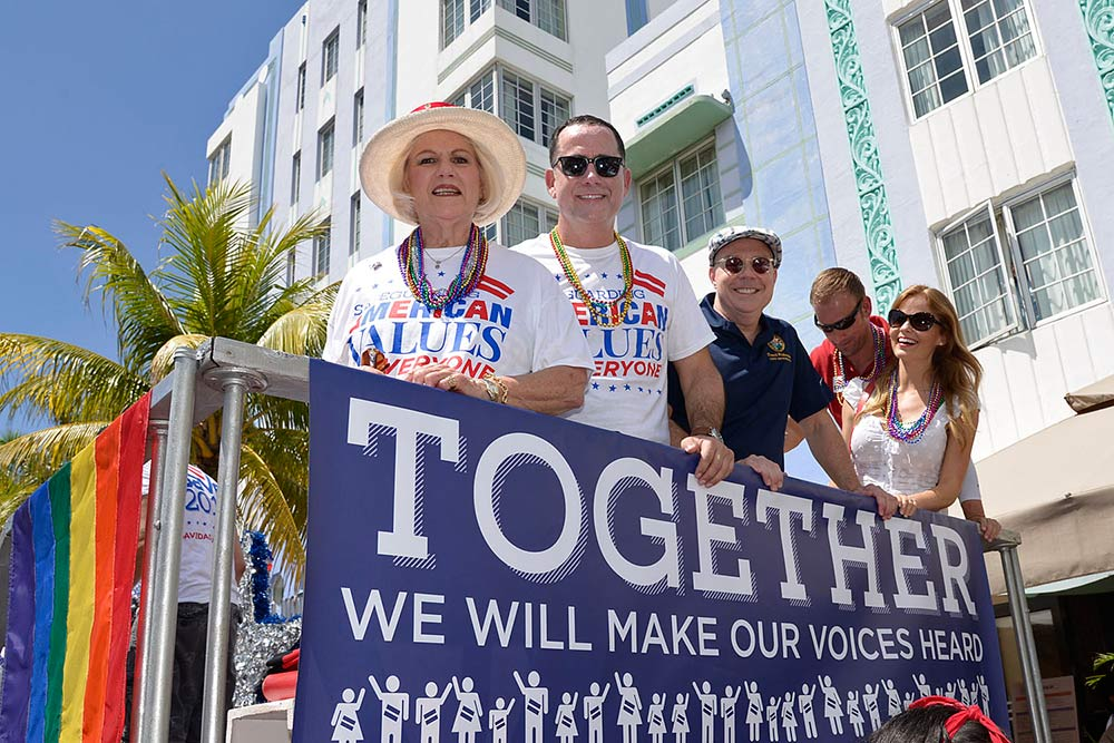 Mayor Philip Levine attends the 2014 Gay Pride Parade