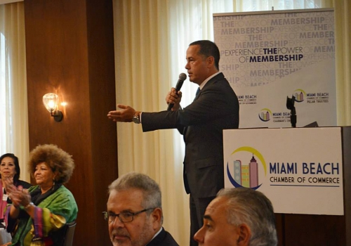 Mayor Philip Levine attends Quarterly Pillar Breakfast